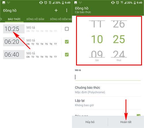 Cách hẹn giờ báo thức trên điện thoại Android