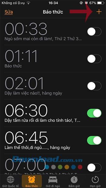 Cách cài đặt báo thức trên điện thoại iPhone