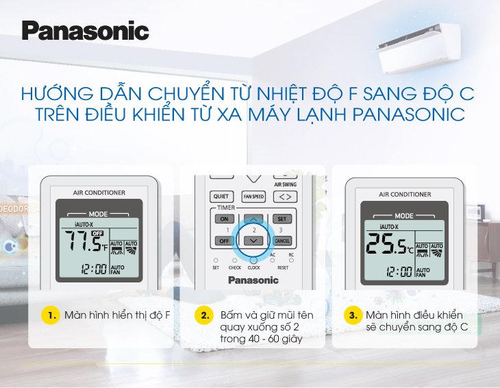 Hướng dẫn sử dụng tính năng Hẹn giờ Bật - Tắt trên máy lạnh Panasonic